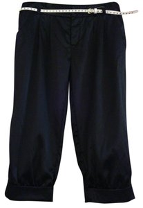 Baby Phat Cuffed Belted Capris Black Satin Capri Shorts 11