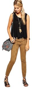 Free People Skinny Pants Gold