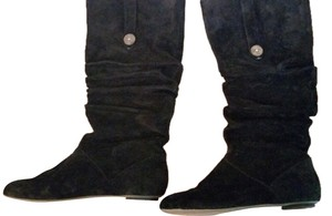 UGG Boots Suede Knee High Black Boots