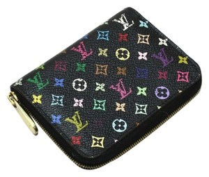 Louis Vuitton Authentic Louis Vuitton Multicolore Monogram Noir Zippy Coin Purse w/ Grenade Interior