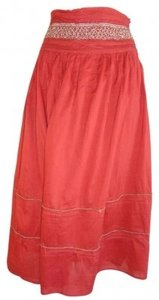Burning Torch Maxi Skirt Red