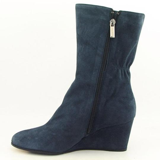 Taryn Rose Suede Wedge Stella Blue Boots Image 1