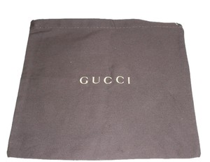 Gucci Brown with Gold Logo Travel Bag