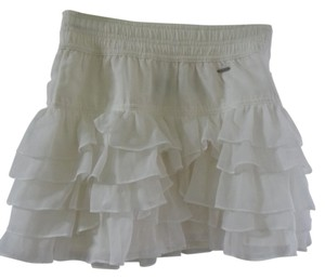 Gilly Hicks Ruffles Abercrombie Mini Skirt White