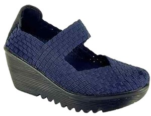 Bernie Mev Wedge Navy Sandals