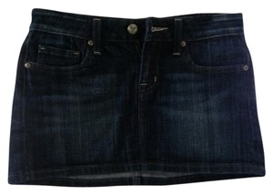 Vigoss Jeans Jean Mini Dark Wash Skirt blue/jean wash