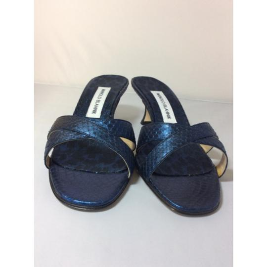 Manolo Blahnik Blue/Black Sandals Image 2