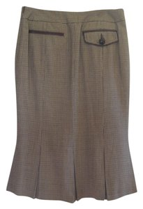 RED Valentino Made In Italy Skirt brown houndstooth