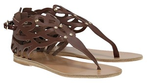 Ancient Greek Sandals Leather Eclectic Burnt Umber Sandals