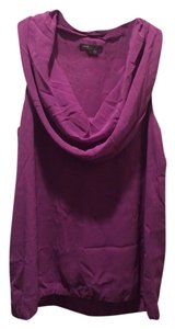 Vince Scoop Neck Flattering Top Light Purple