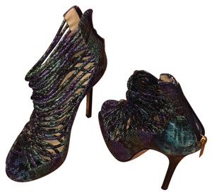 Jimmy Choo Teal snakeskin print Formal