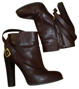 Fendi Maroon leather Boots