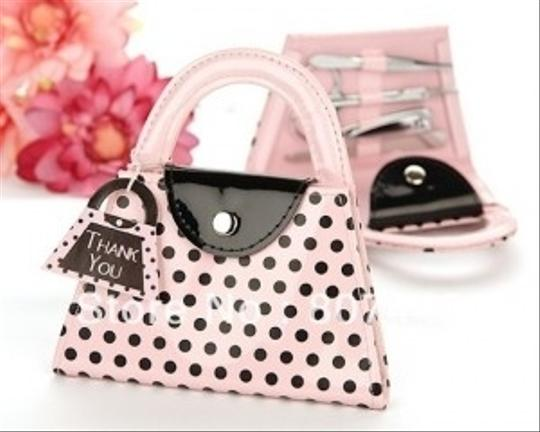 Preload https://item1.tradesy.com/images/100-pink-polka-purse-with-manicure-set-101475-0-0.jpg?width=440&height=440