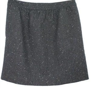 Ann Taylor LOFT Black Woven Skirt BLACK/SILVER