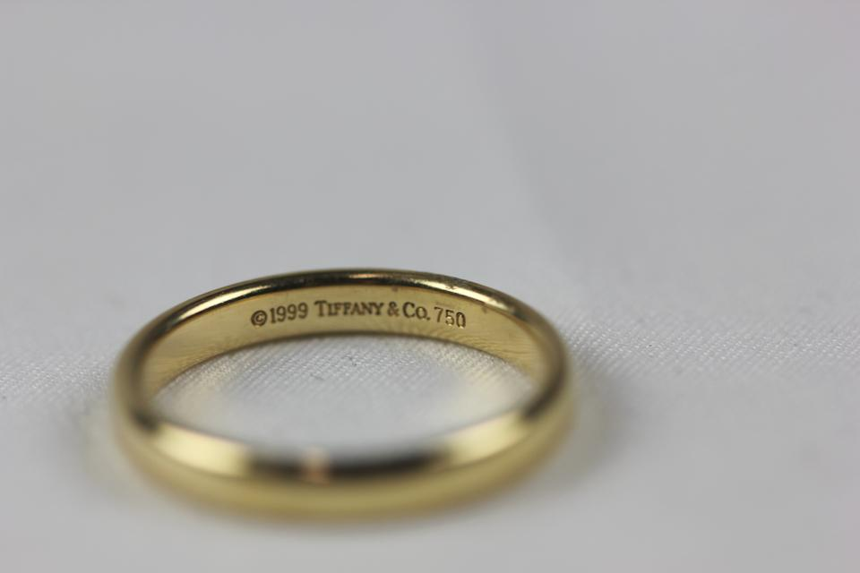 Tiffany Co Yellow Gold 3mm Lucida Size 7 Womens Wedding Band