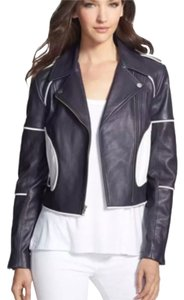 Diane von Furstenberg Navy/white Leather Jacket