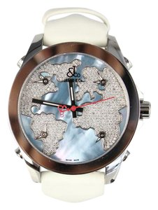 Jacob & Co. Jacob & Co. Five Time Zone Diamond Pave Mother of Pearl Dial Watch
