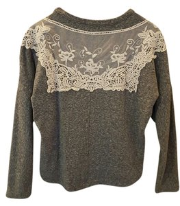 Anthropologie Lace Trim Pullover Sweater
