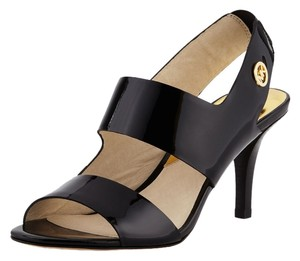 Michael Kors Black Patent Leather Sandals