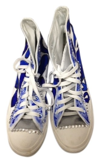 Converse Sneaker Casual White and Blue Athletic