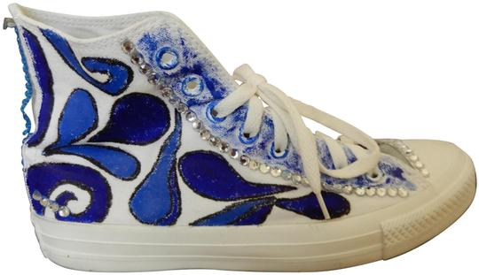 Preload https://img-static.tradesy.com/item/10148905/converse-white-and-blue-hand-painted-with-sequins-male-sneakers-size-us-9-regular-m-b-0-11-540-540.jpg