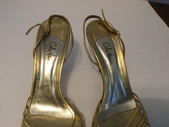 Cole Haan Soles Stack Wood Heels Make an offer Gold leather lining leather slingback Sandals