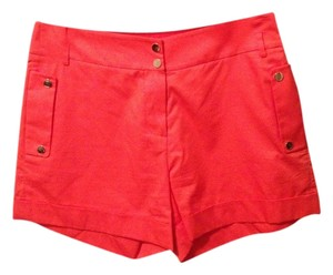 perspective Cuffed Shorts red