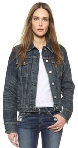 Rag & Bone And Denim Jeans Distressed Denim Worn blue Womens Jean Jacket