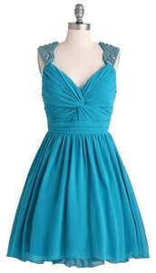 City Triangles Beaded Hi Lo Tulle Underlay Dress