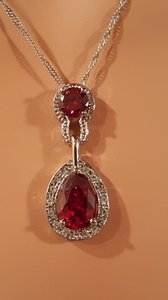 Red Austrian Crystal Necklace Set