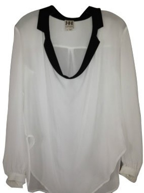 Haute Hippie Top White and black