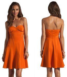 Zac Posen Strapless Flare Bodycon Fitted Sweetheart Dress