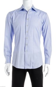 David August David August Light Blue Long Sleeve Button Men's Shirt (size 29)