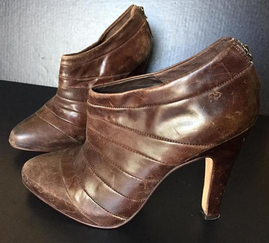 AllSaints Ankle Stiletto Leather Vintage Caramel Boots