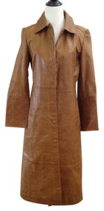 Gap Leather Casual Trench Coat