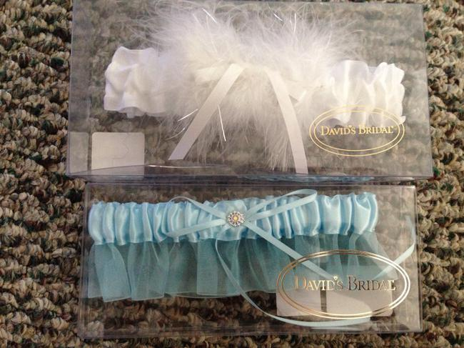 Item - White and Blue Garter Belts