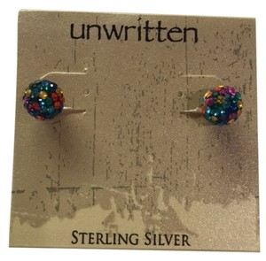 Unwritten UnWritten Multi Colored Stud Name Brand Earrings