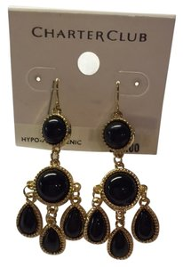 Charter Club Charter Club Black and Gold Dangley Earrings