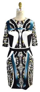 Peter Pilotto Printed Crepe Stretch Print Dress