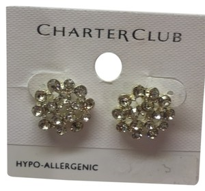 Charter Club White Faux Diamonds