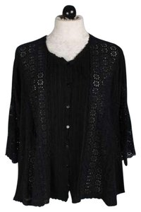 Johnny Was Cupra Rayon Edgy Embroidered Tunic