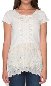 Johnny Was Floral Knit Tee Embroidered Tunic