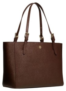 Tory Burch Tote in dark brown burgundy purple