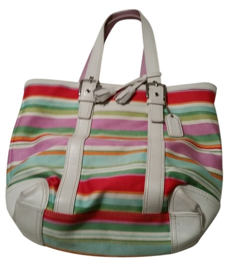 Preload https://item4.tradesy.com/images/coach-multicolor-stripped-tote-10151998-0-1.jpg?width=440&height=440