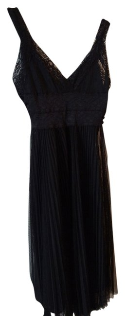 Preload https://item2.tradesy.com/images/forever-21-lace-pleated-dress-black-1015291-0-0.jpg?width=400&height=650