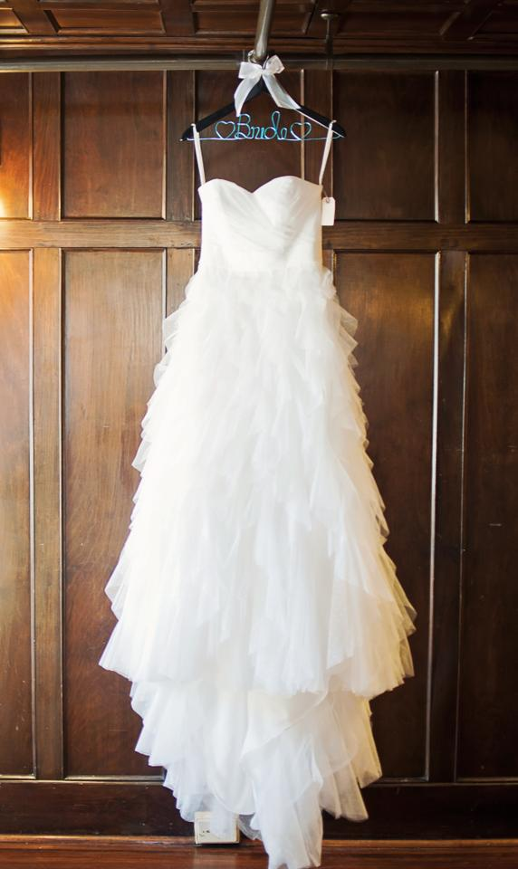 Davids Bridal White Subtle Polka Dots On Ruffles Tulle Galina Strapless Dot Ball Gown With Skirt
