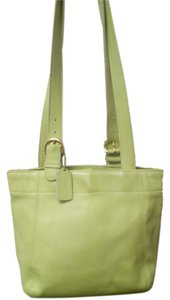 Coach Vintage Leather Rare Tote in Green
