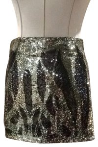 Haute Hippie Skirt Gold Brown Sequins