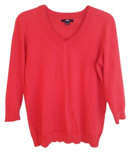 AK Anne Klein V-neck Peach Sweater