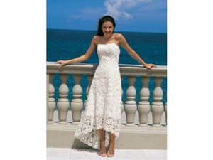 Alfred Angelo White Other 1774 Nt Destination Wedding Dress Size 2 (XS)